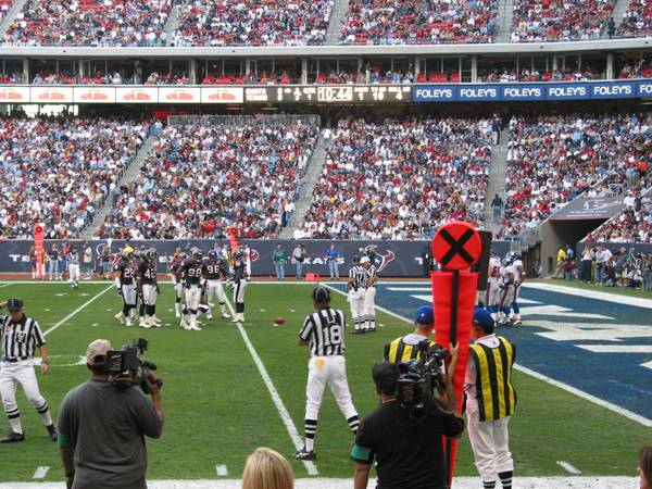 Houston Texans vs. Indianapolis Colts Lower 2nd Row w Blue Pass - $500 (Section 103 Row B)