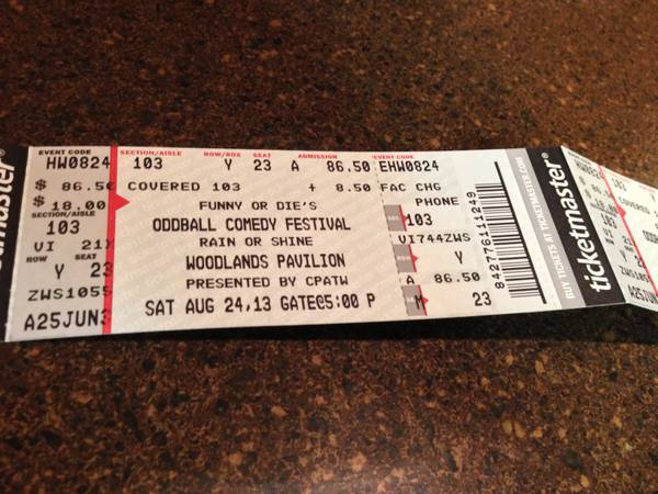 Hard tickets - Oddball Comedy Festival - Dave Chappelle - Lower Level - $200
