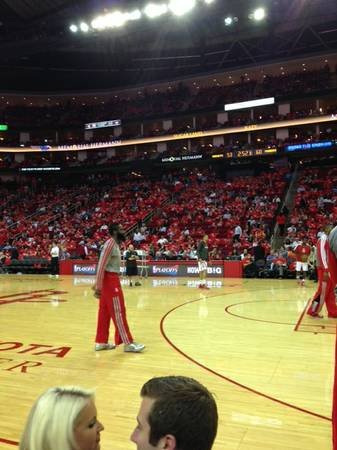 ROCKETS VS HEAT FLOOR SEATS COURTSIDE C105A - x00241500 (HOUSTON)