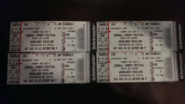 Oddball Comedy Fest Dave Chappelle 4 Aisle Tickets Face Value - $1 (The Woodlands)