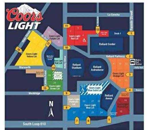 Texans vs. Jaguars Orange Lot Parking Pass - $50 (Central Houston or 290)