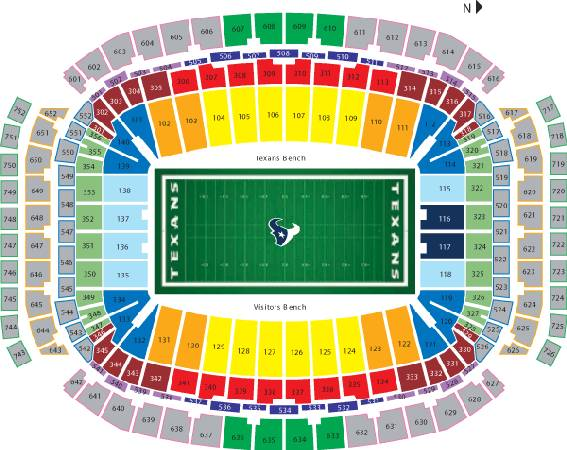 Texans v Saints 50 yard sec 106 first row parking pass included - $190 (downtown)