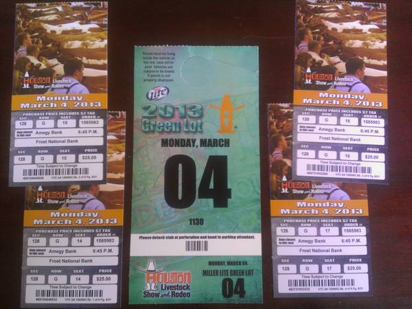 Houston Rodeo (3-4-2012) - Styx (4 Tickets 1 Parking Pass) - $50 (Sugar Land)