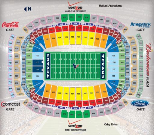 Texans vs Jaguars (2) Upper Level Endzone with Orange Parking Pass - $165 (59Kirby)