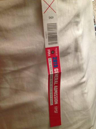 FPSF Summerfest ticket for sale - $220 (Downtown or Clearlake)