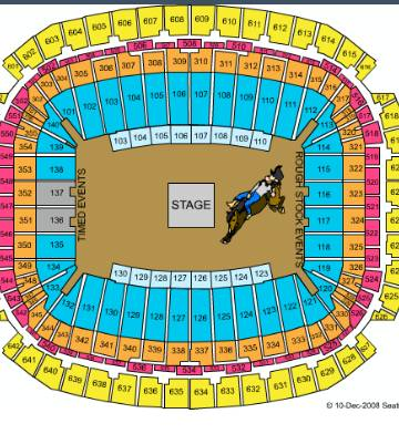 jake owen action seats rodeo tickets - $180