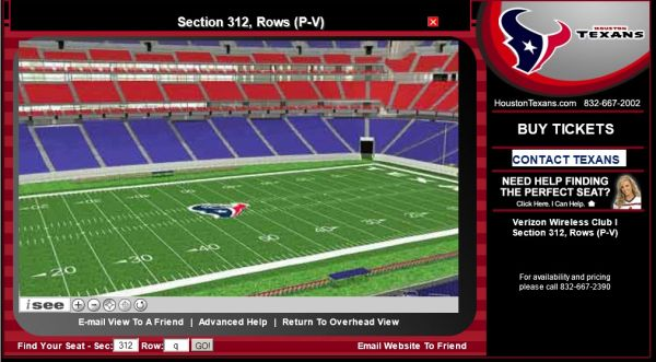Houston Texans vs. Indianapolis Colts Tickets Club Level Green PPass - $350 (832-358-5682 (For Sale By Owner))