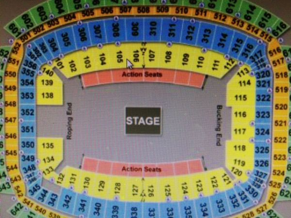 TIM MCGRAW, RODEO, BLUE PARKING - $69 (105 P, across aisle from 106.... katy)