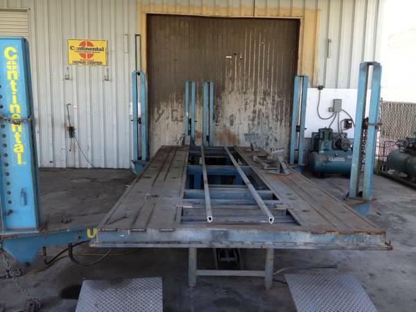 18 ft Continental Frame Machine Rack auto body repair - $8000 (Houston)
