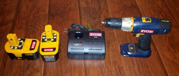 Ryobi 18.0 V Drill with batteries and charger - $30 (Katy)