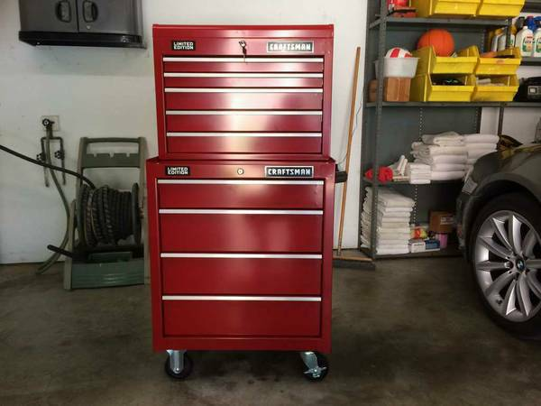 Craftsman Toolbox Top and Bottom Units Chest Cabinet Tool Box - $360 (Magnolia)