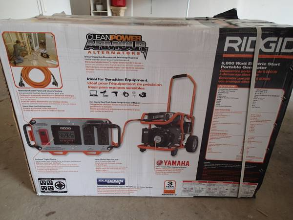 RIGID 6800 WATT Generator RD906812 Yamaha 357 cc Electric Start NEW - $800 (Houston)
