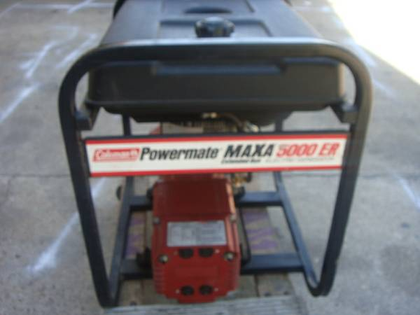 Coleman Powermate MAXA 5000 ER 5000 W 10HP Portable Generator- CHEAP - $450 (Heights)