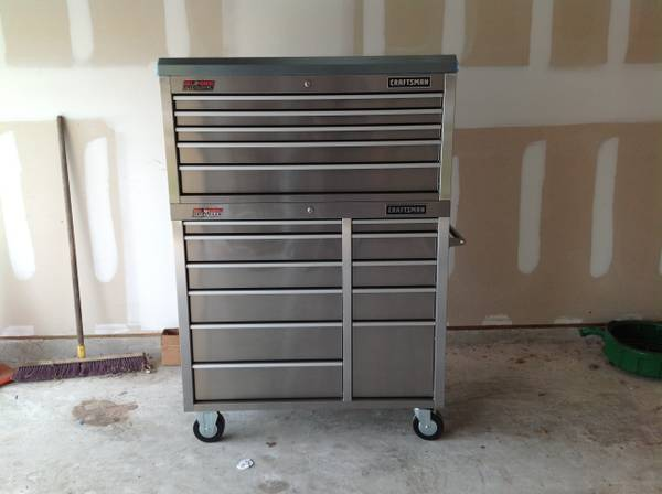 NEW CRAFTSMAN STAINLESS STEEL 41 TOOL BOX - $850 (Spring)
