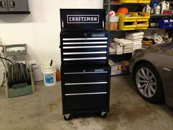 Craftsman Toolbox Chest Cabinet Top and Bottom Tool Box Ball Bearing - $275 (Magnolia)