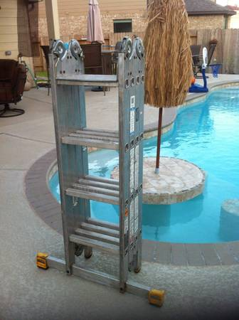 16 FT KRAUSE MULTIMATIC FOLDING LADDER - $80 (NW HOUSTON)