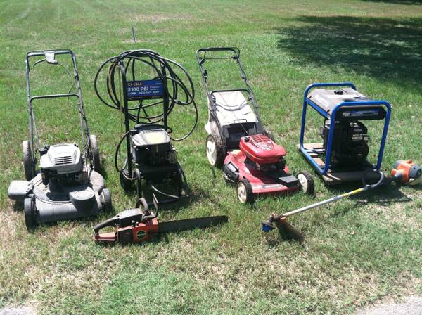 Generator - Toro Push Mower - Husqvarna WeedEater - Craftsman ChainSaw (Cypress)