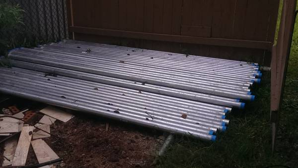 10 ft long 2 in wide galvanized electric wiring pipe. 15 each - $15 (north houston)