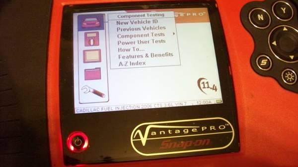 SNAP-ON VANTAGE PRO MULTIMETERSCOPE 4 AUTO ELECTRICAL DIAGNOSTICS - $1200 (WEST HOUSTON)