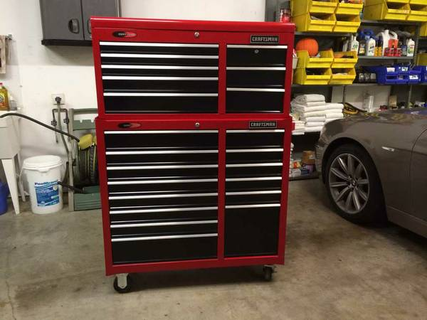 Craftsman Toolbox Chest Cabinet Top and Bottom Tool Box - $775 (Magnolia)