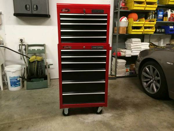 Craftsman Toolbox Chest Cabinet Top and Bottom Units Tool Box - $385 (Magnolia)