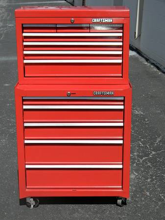 UPDATED Craftsman Roll Tool Chest Top and Bottom - $275 (Spring Branch)