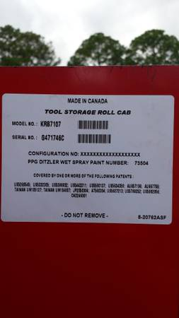 40 Blue Point KRB 7107 tool caninet (same as Snapon)