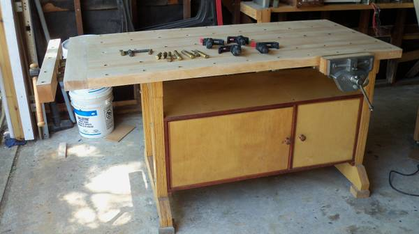 Laminated Maple Woodworking Bench - $500 (Houston-Spring Branch)