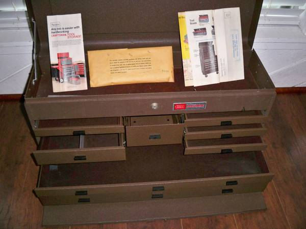 MACHINISTS TOOL BOX CHEST CRAFTSMAN KENNEDY 8 DRAWER - $100 (77084)