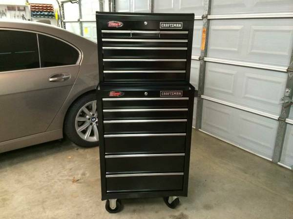 Craftsman Toolbox Chest Cabinet Top and Bottom Tool Box Ball Bearing - $360 (Magnolia)