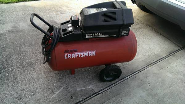 CRAFTSMAN AIR COMPRESSOR 33 GAL 6 HP COMMERCIAL TYPE AIR COMPRESSOR - $200 (N SPRING WOODLANDS)