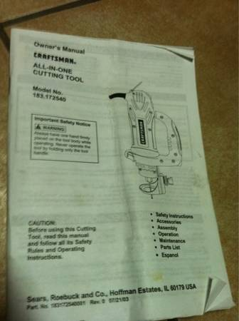 craftsman all in one cutting tool - $140 (spring tx.)