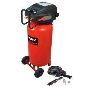 Husky 26-Gal. Portable Electric Air Compressor with 2 Air Tools - $178 (THE WOODLANDS)