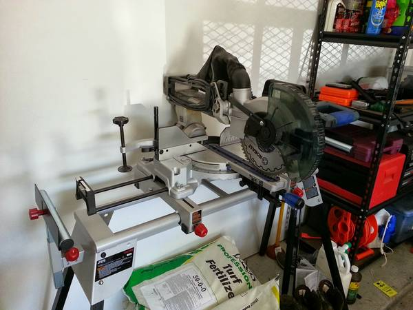 Kobalt 10 15 Sliding Compound Laser Miter Saw with Skil Stand - $250 (Cinco Ranch)