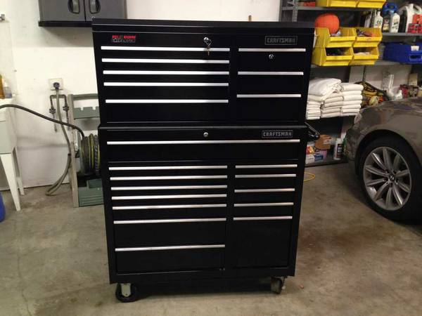 Craftsman Griplatch Toolbox Chest Cabinet Top and Bottom Tool Box - $775 (Magnolia)