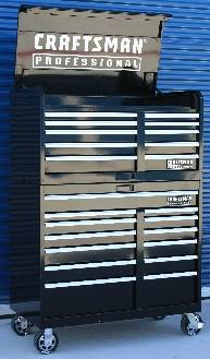 Craftsman stainless steel side chest | eSpotted