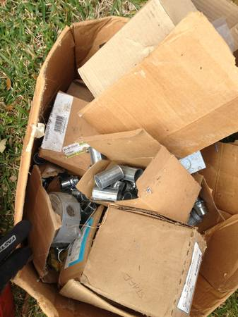 Miscellaneous conduit fittings,gang boxes, switch plates - $250 (Sugar land)