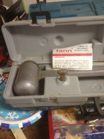 Mud Balance Fann model 140 - $120 (Tomball)