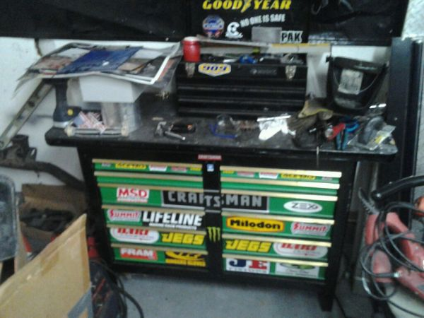 Craftsman bench top tool box (green and black) CLEAN LOOK - $360 (Humble)
