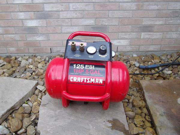 LK....SEARS CRAFTSMAN AIR COMPRESSOR 1HP - $110 (NW HOUSTONSPRING)