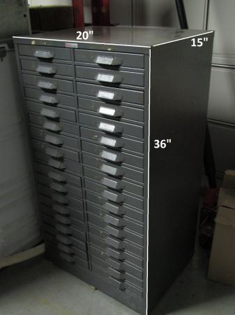 36 drawer parts cabinet S-J Metal Mfg - $450 (Katy)