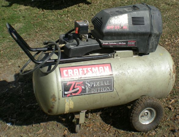 CRAFTSMAN 75th Anniversary Special Edition 6HP 33Gallon Air Compressor - $200 (Downtown Houston)