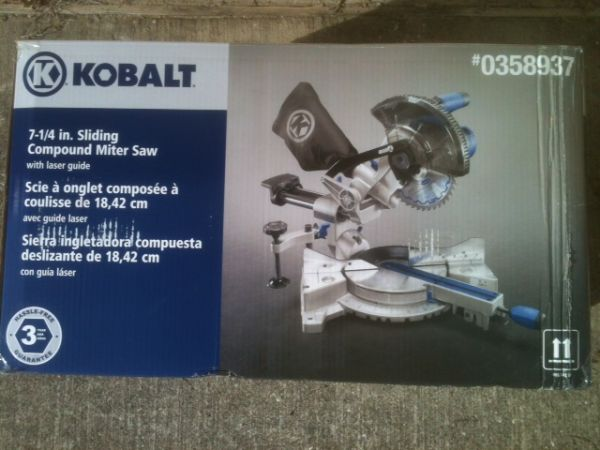 7-14 Kobalt Sliding Compound Miter Saw, Slightly Used - Asking $77 - $77 (Galveston County)