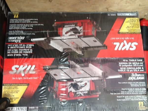 Skill table saw - new - $120 (Clearlake)