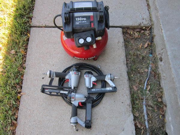 Porter Cable Trim guns and Compressor Set - $220 (Pearland)