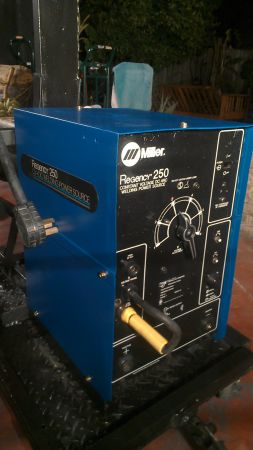 Miller Regency 250 welder with cart - $1100 (hobby aiirport)
