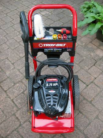 TROY-BILT Pressure Washer with Briggs Stratton 6.75 HP engine - $225 (Spring)