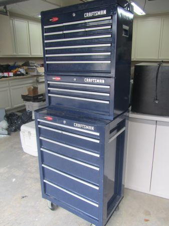 3 Tier Blue Craftsman Quiet Glide Roll around Tool Boxs Set NICE - $350 (Deer Park Just East of Houston Hwy 225)
