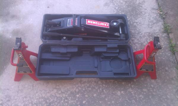 Craftsman 2 14ton Trolley Jack w stands - $50 (hobby)