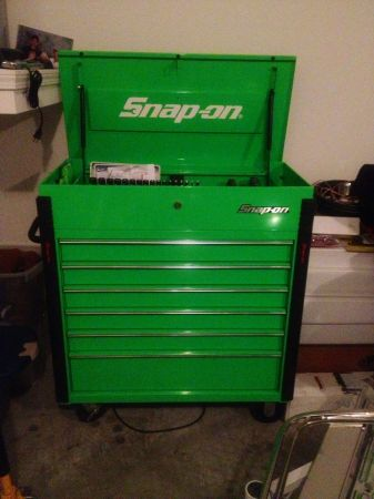 Snap on extreme green tool box with snap on green tools - $3500 (Conroe)